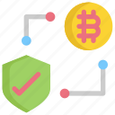 bitcoin, cryptocurrency, digital, finance, money, payment, protection icon