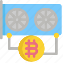 bitcoin, cpu, cryptocurrency, digital, hardware, mining, money icon