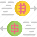 bitcoin, cryptocurrency, digital, exchange, money, payment icon