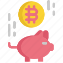 bank, bitcoin, cryptocurrency, digital, money, piggy, saving icon