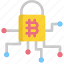 bitcoin, cryptocurrency, digital, dollar, money, protection, security icon