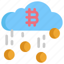 bitcoin, cloud, coin, cryptocurrency, currency, digital, money