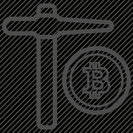bitcoin, bitcoins, blockchain, cryptocurrency, mining icon