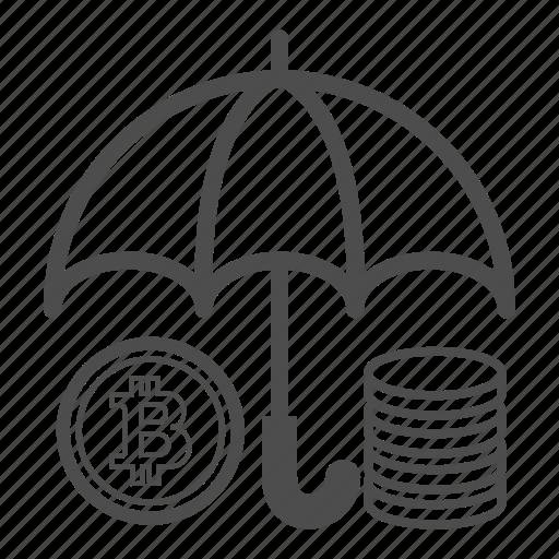 bitcoin, bitcoins, save, saving icon