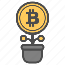 bitcoin, bitcoins, money, save icon