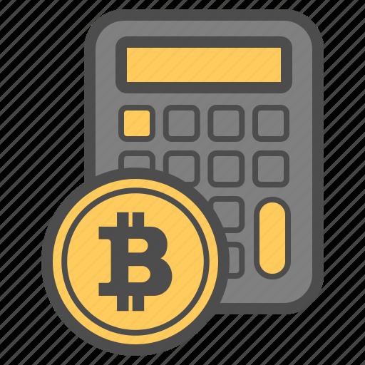 bitcoin, bitcoins, calc, money icon