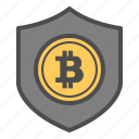bitcoin, bitcoins, safe, secure, security icon