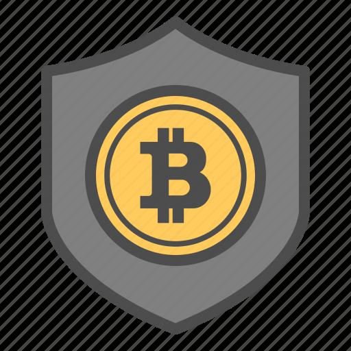 bitcoin, bitcoins, safe, secure, security icon
