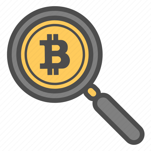analysis, bitcoin, bitcoins, search icon