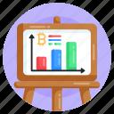 bitcoin analytics, bitcoin presentation, bitcoin data, bitcoin chart, bitcoin graph icon