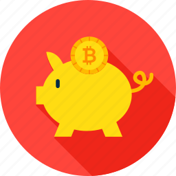 banking, bit, bitcoin, coin, cryptocurrency, currency, piggy icon