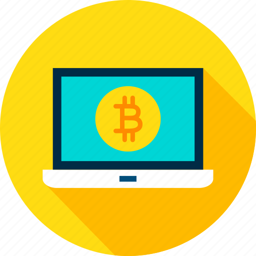 bit, bitcoin, blockchain, coin, cryptocurrency, laptop, technology icon