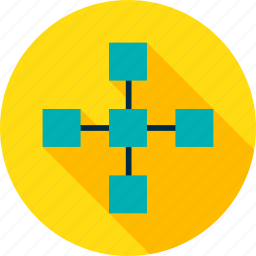 block, blockchain, chain, connection, data, structure, technology icon