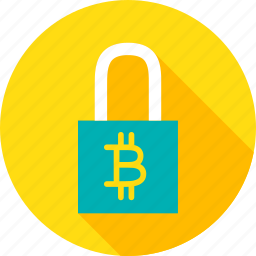 bit, bitcoin, coin, cryptocurrency, padlock, safety, security icon