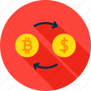bit, bitcoin, coin, dollar, exchange, rate, rates icon