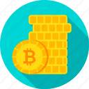 bit, bitcoin, coin, currency, gold, golden, money icon
