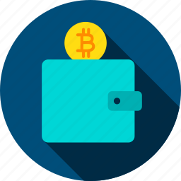 bit, bitcoin, coin, cryptocurrency, money, purse, wallet icon