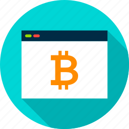 bitcoin, browser, computer, cryptocurrency, internet, technology icon