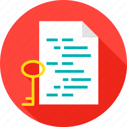 assymetric, coding, computer, document, file, key, technology icon