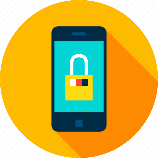 mobile, padlock, phone, secure, security, smart, smartphone icon