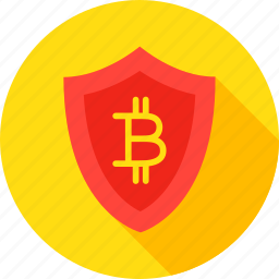 bit, bitcoin, coin, cryptocurrency, safety, security, shield icon