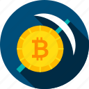 bit, bitcoin, coin, cryptocurrency, mattock, mining, pickaxe icon