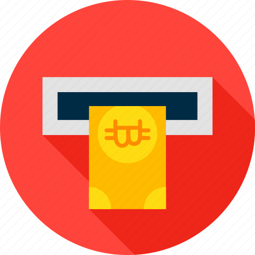 atm, bank, banking, banknote, bitcoin, cryptocurrency, money icon
