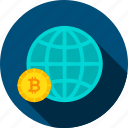 bit, bitcoin, coin, cryptocurrency, finance, global, payment icon