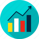 analytics, chart, column, graph, growth, infographics, statistics icon