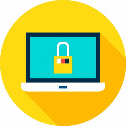 computer, laptop, lock, notebook, padlock, safety, security icon