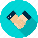 agreement, business, businessman, contract, deal, hand, handshake icon