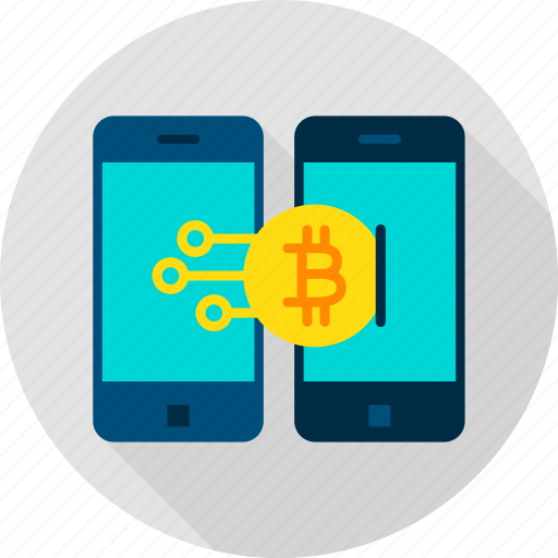 bit, bitcoin, coin, mobile, payment, phone, transaction icon