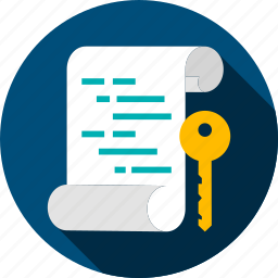 assymetric, code, coding, computer, document, file, key icon