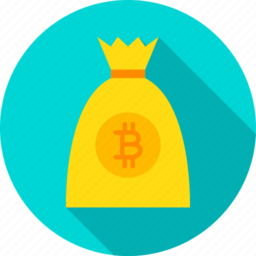 bag, bit, bitcoin, coin, cryptocurrency, currency, money icon