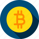bit, bitcoin, coin, crypto, cryptocurrency, digital, gold icon
