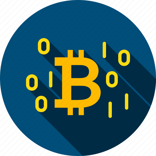 binary, bit, bitcoin, byte, coin, cryptocurrency, number icon