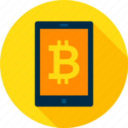 bit, bitcoin, coin, cryptocurrency, device, tablet, technology icon