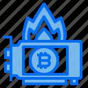 card, bitcoin, fire, heat