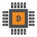 bitcoin, bitcoins, digital icon