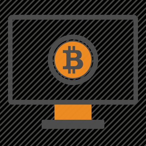 bitcoin, bitcoins, desktop icon