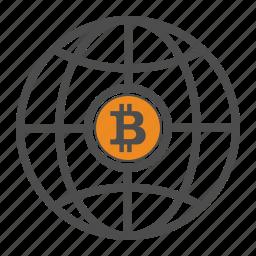 bitcoin, bitcoins, word icon