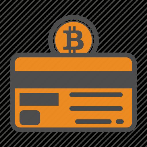 bitcoin, bitcoins, credit card icon