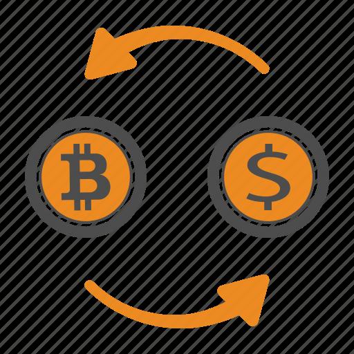 bitcoin, bitcoins, exchange icon