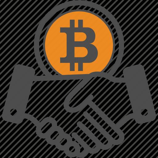 bitcoin, bitcoins, contract, deal icon