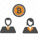 bitcoin, bitcoins, money, transfer icon