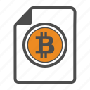 bitcoin, bitcoins, cocumentation, document icon