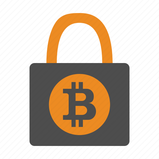 Armor, lock, bitcoins, secure, bitcoin icon