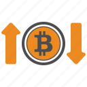 bitcoin, bitcoins, dpwn, up icon