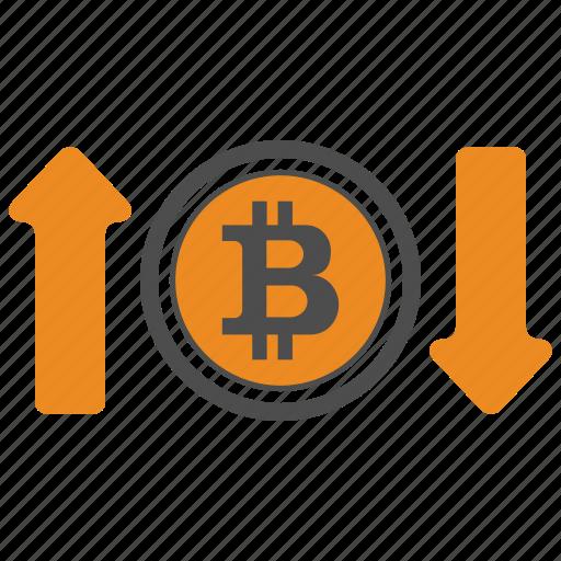 bitcoin, bitcoins, dpwn, up icon