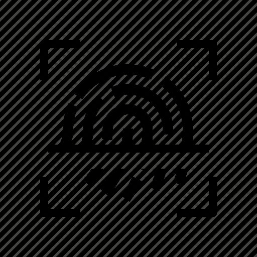biometrics, finger, print, security icon